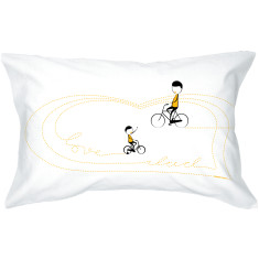 Love Dad bike single pillowcase