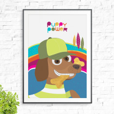 Puppy power print