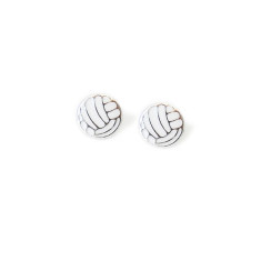A small world Netball stud earrings