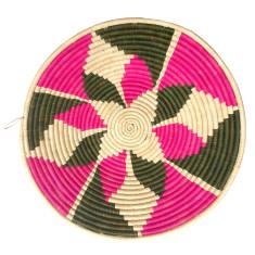 Yaota woven bowl pink