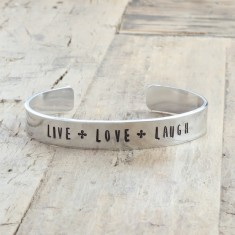 Live love laugh bracelet (various colours)