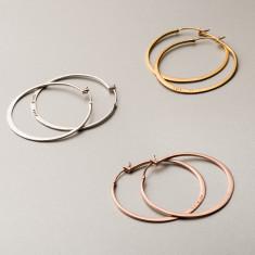 Personalised Large Verse Hoop Earrings