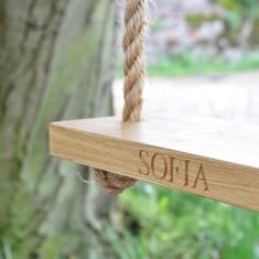 Personalised Small Oak Garden Swing