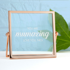 Engraved Mumazing Rose Gold Frame