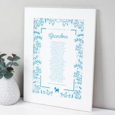 Grandma Poem Scandi Print
