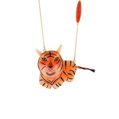 Tiger Long Necklace