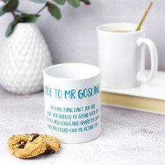 Celebrity Crush Poem Mug