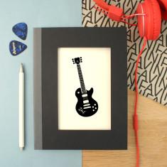 Personalised Guitar Notebook