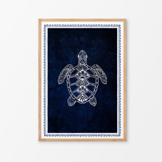 Turtle on Indigo art print