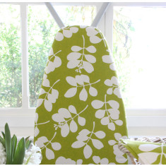 Organic cotton ironing board cover in succulent citronelle green