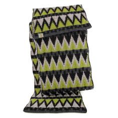 Pine wool scarf