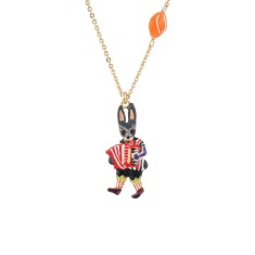 Accordionist little rabbit necklace
