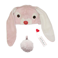 Lil' pink bunny hat & tail set for kids