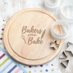 Bakers Gonna Bake Round Chopping Board