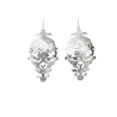 Empire drop earrings in sterling silver