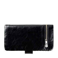 Esther leather wallet in black