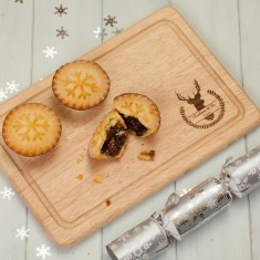 Personalised Winter Stag Rectangular Chopping Board
