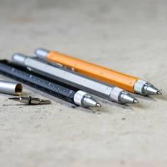 Multitasking Brass Pen With Ruler & Spirit Level