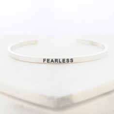 Fearless bangle in silver
