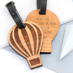 Personalised Hot Air Balloon Luggage Tag