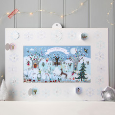 Personalised shakies winter forest advent calendar