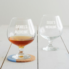 Personalised 'Medicine' Brandy Glass