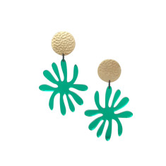 Green mirror Matisse Star Burst Drop Earrings