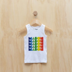 Personalised rainbow gradient boy singlet