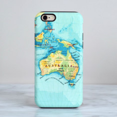 Australia map iPhone Samsung case