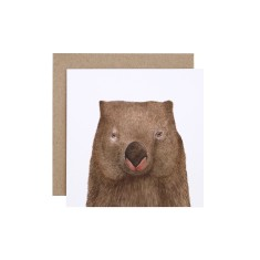 Wombat greeting card (pack of 5)