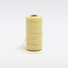 Yellow and white bakers twine