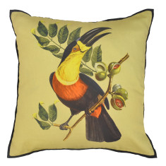 Yellow bird cushion