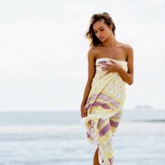 Jain hand block printed fringe sarong