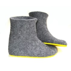 Women's Handmade Eco Wool Boots In Sunny