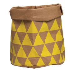 GE wash paper bag in yellow triangles
