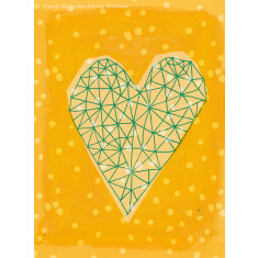 Geometric Heart in Yellow Archival Art Print by Paula Mills for Sweet William