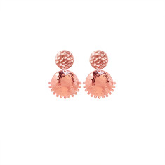 Tribal Stud Earrings in Rose Gold Plate