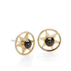 Orbiting Star Stud Earrings