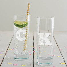 Personalised Hobby Monogram Hi Ball Glass