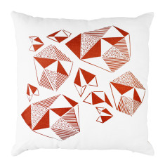 Luxe Metallic Copper Abstract Cushion Cover
