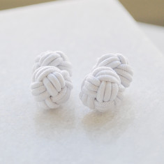 Double knot nautical cuff links in cotton