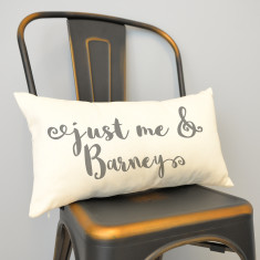 Personalised Just Me And My Pet Rectangular Cushion