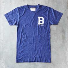 Balmain varsity t-shirt in indigo blue