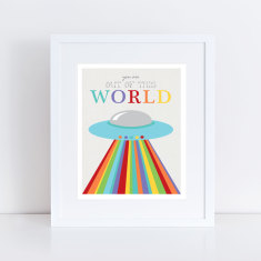 You are out of this world flying saucer art print