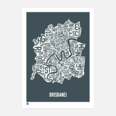 Brisbane type print