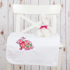 Liberty Bunny Baby Blanket