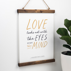 Romantic Shakespeare Love Print