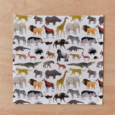 African Animals Handkerchief & Pocket Square