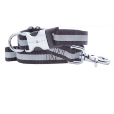 Kings Cross Reflective Nylon Collar & Lead Set - Black