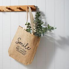 Smile! 100% Jute Shopper Bag